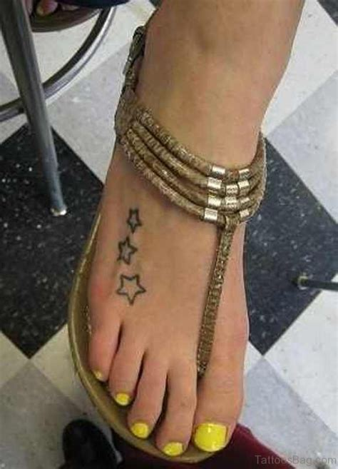 cute star tattoo  foot