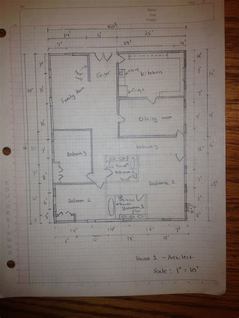manually draft  basic floor plan  steps