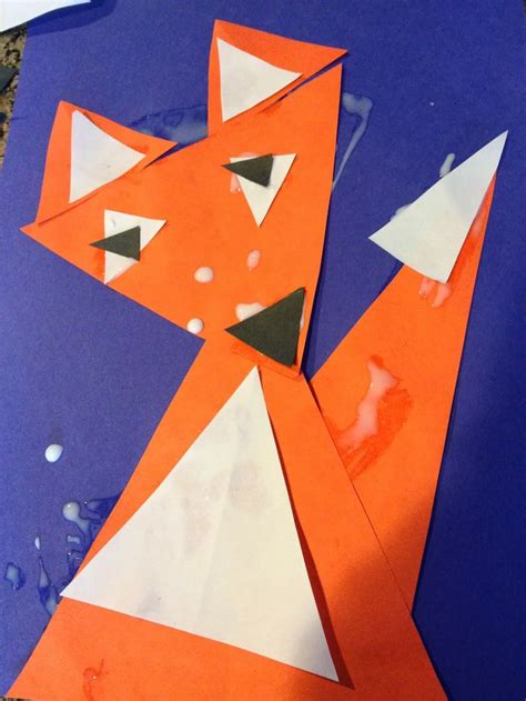 Triangle Template For Kid Craft by The Backup Learning Shapes With Triangle Fox Craft