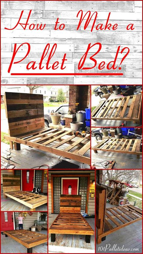 pallet bed easy pallet ideas