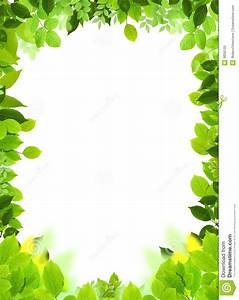 Natural frame and template stock illustration