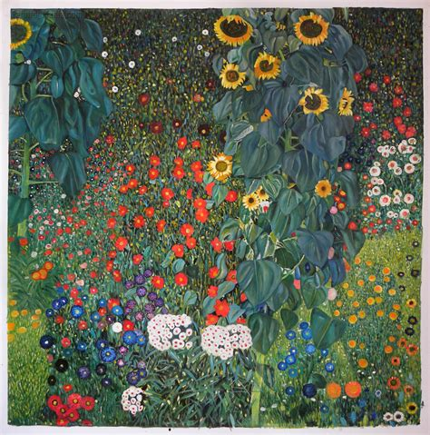 gustav klimt garden with sunflowers