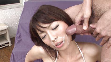 Izumi Manaka In Hot Japanese Milf Gets Cum On Her Cheeks