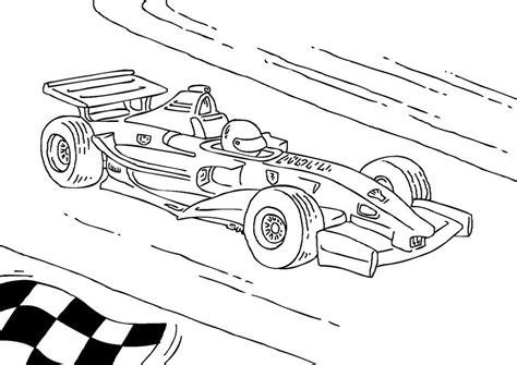 Kleurplaat Formule 1 kleurplaat formule 1 race wagen afb 27177