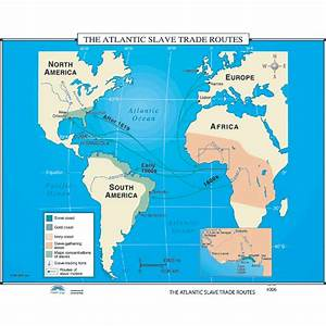 History Map #006 The Atlantic Slave Trade Routes