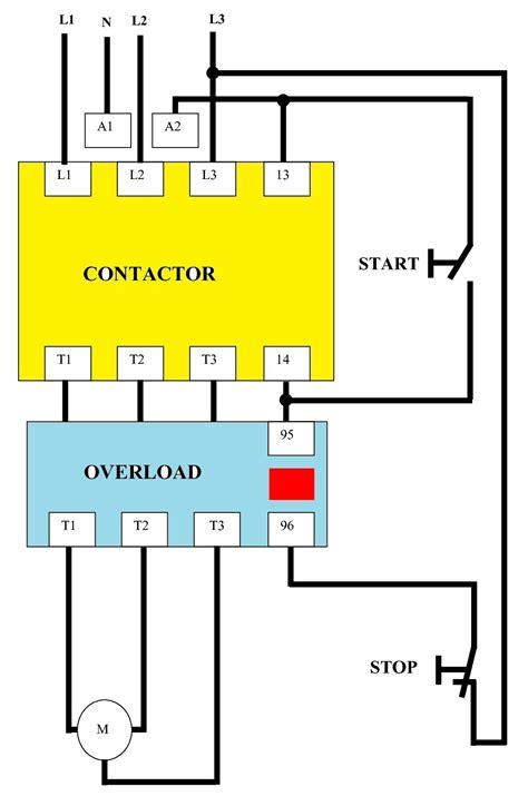 single phase dol starter wiring diagram ac motor