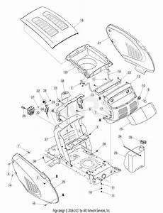 Troy Bilt 13an779g766 Pony  2005  Parts Diagram For Hood