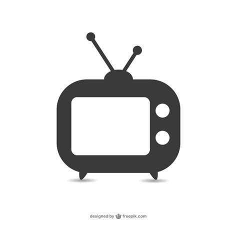 Tv Vector Template by Old Television Set Icon Vector Free Download