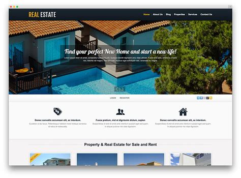 Free Real Estate Themes 40 Best Real Estate Themes For Agencies