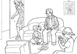 2000s Shopping Colouring Page