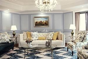 The elegant living room European-style home design2