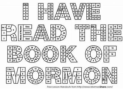 Mormon Reading Chart Lds Scripture Read Charts