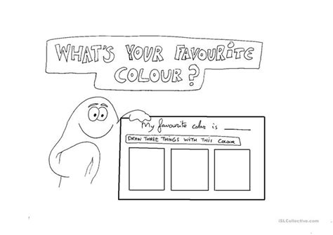 what s my favorite color whats your favourite color worksheet free esl printable