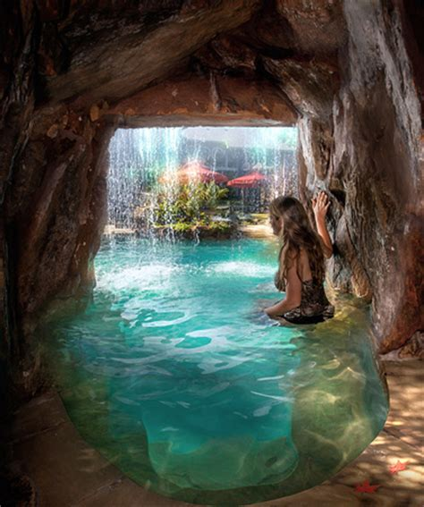 john guild photography water caves grotto custom pool