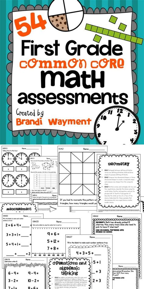 Math First Grade Common Core Assessments