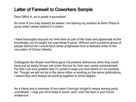 letter  farewell