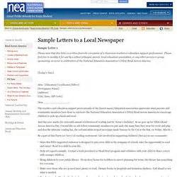 format for writing a letter to the editor sample