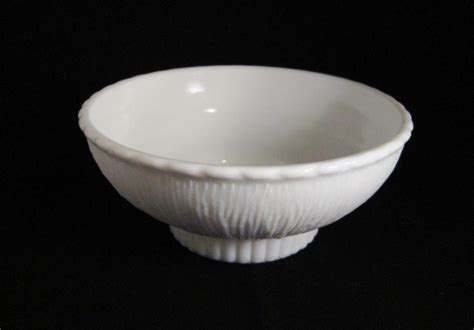 milk glass bowl milk glass footed vase 1975 marked f t d white bowl shape vases
