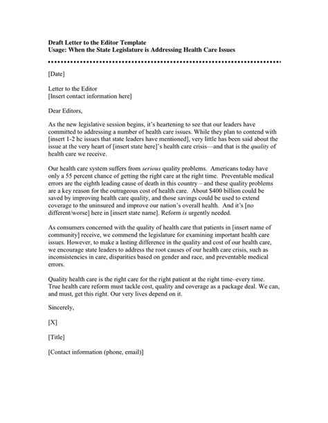 letter to the editor template draft letter to the editor template in word and pdf formats