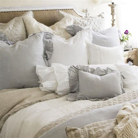 Shabby Chic Cottage Bedding Shabby Chic Cottage Pom Pom At Home Ruffled Duvet