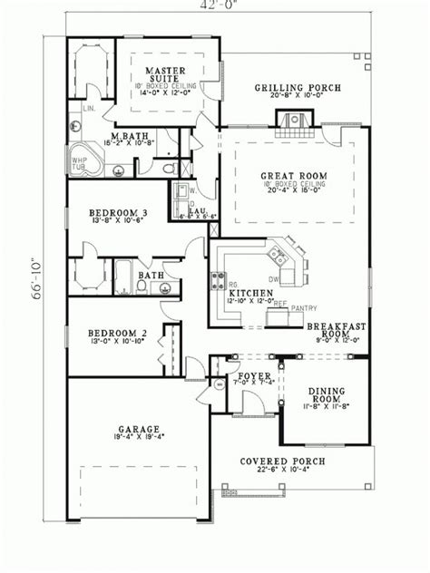 Home Plans Narrow Lot by Awesome Narrow Lot Ranch House Plans New Home Plans Design