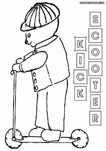 Kick scooter coloring pages | Coloring pages to download ...