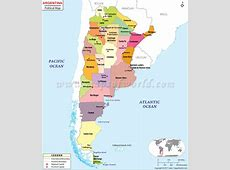 Political Map of Argentina Argentina Provinces Map