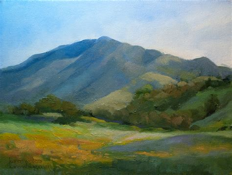 California Impressionist Landscape Oil Painting Western