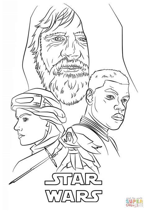 Kylo Ren Kleurplaat by The Awakens Poster Coloring Page Free Printable