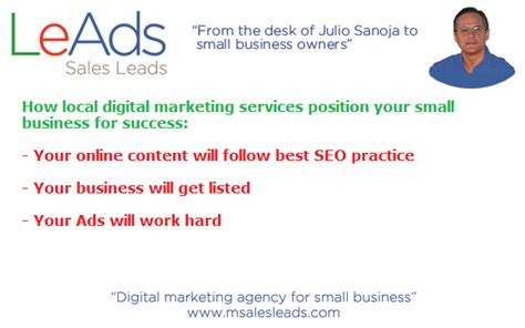 Local Marketing Services - what are local digital marketing services leads