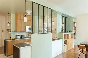 appartement farjo coeur de cuisine maema architectes With meuble separation cuisine salon 11 cloison verriare atelier de leroy merlin rustique
