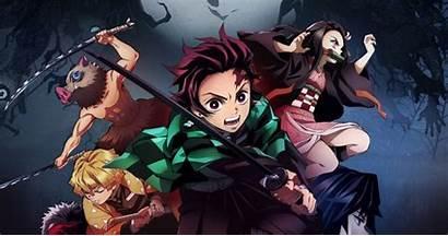 Anime Slayer Demon Watching Spring Kimetsu Yaiba