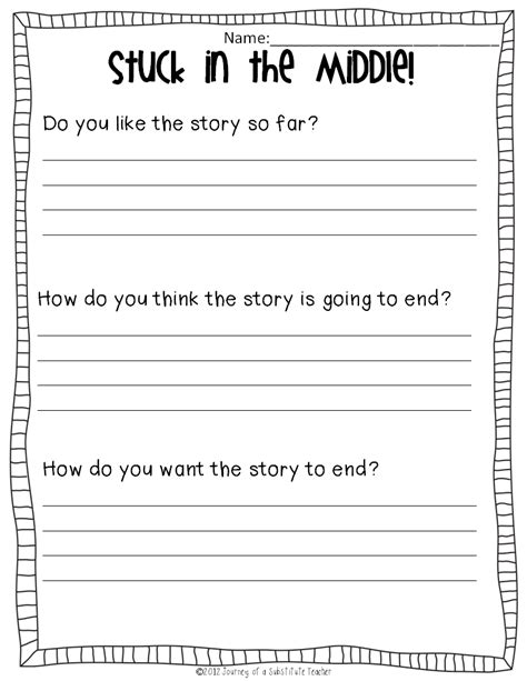 reading activities for any book journey of a substitute