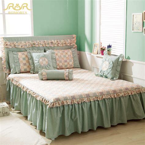 38269 king size bed skirts romorus new beautiful princess 100 cotton