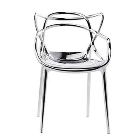 the masters chair metallic by p starck for kartell at