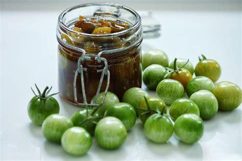 cuisiner des tomates vertes chutney de tomates cerises vertes au gingembre
