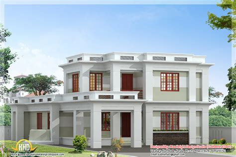 Flat Houses Designs Pictures by Flat Roof Modern Home Design 2360 Sq Ft Home Appliance
