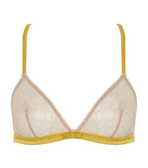 princesse tam tam siege princesse tam tam iggy triangle bra in yellow lyst