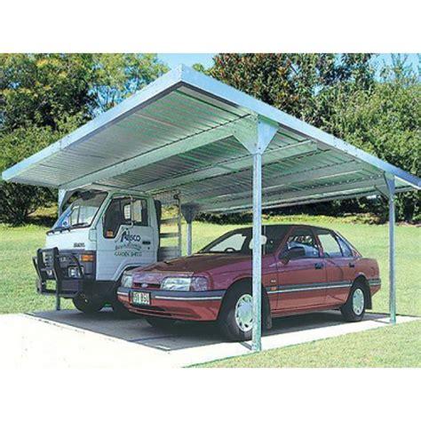 Double Carport Skillion Roof 55m X 55m Zincalume Cheap