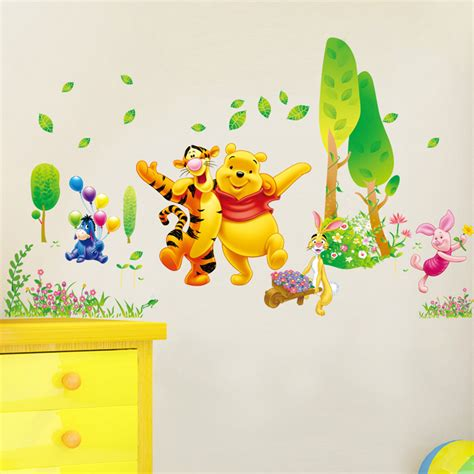 stickers disney chambre bébé stickers winnie ourson