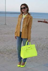 Neon yellow and neutrals