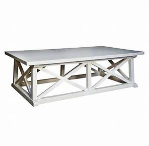 luc coastal beach white wash coffee table kathy kuo home With beach house coffee tables