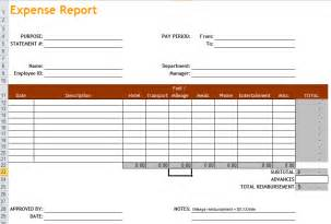 Excel Expenses Template Uk by Expense Report Template In Excel