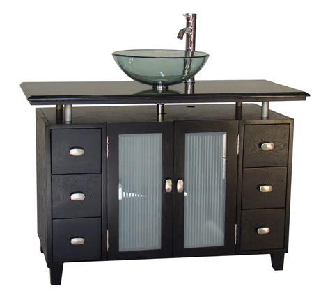 black bathroom vanity with vessel sink adelina 46 inch vessel sink bathroom vanity black granite top
