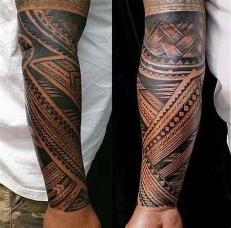 samoaner tattoo designs fuer maenner tribal ink ideen