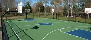 Outdoor Basketball Court Construction & Basketball Court