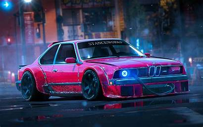 Bmw E24 M6 Stance Tuning Night Wallpapers