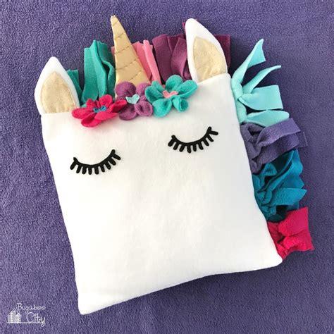 diy fleece unicorn pillow with free pattern bugaboocity