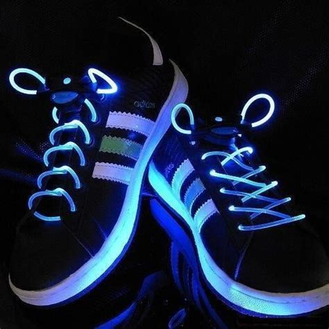 light blue shoelaces led shoe laces bring the light to the club bit rebels