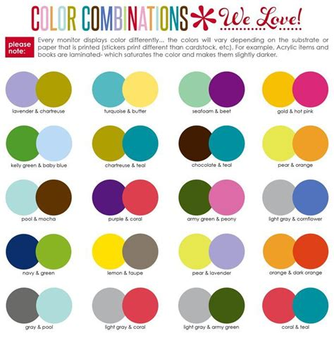 image result for suggested color combinations erin condren